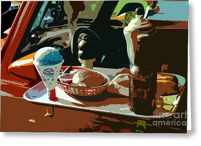Antic Car Greeting Cards - Drive in Greeting Card by David Lee Thompson