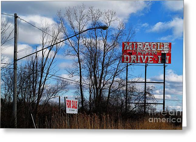 Drive-in For Sale Greeting Card by Jeff Holbrook