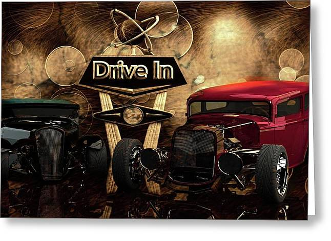 Greeting Card featuring the photograph  Drive In by Louis Ferreira