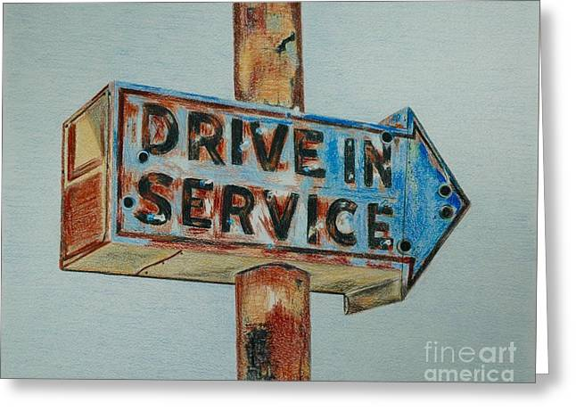 Drive In Service Greeting Card