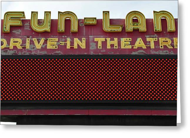 Drive Inn Theatre Greeting Card by David Lee Thompson