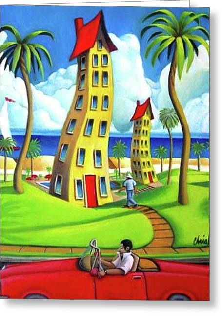 Drive On The Beach Greeting Card