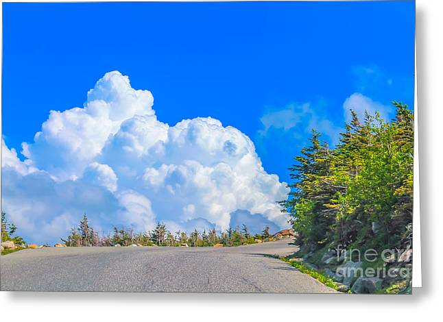 Driving Into The Clouds Greeting Card