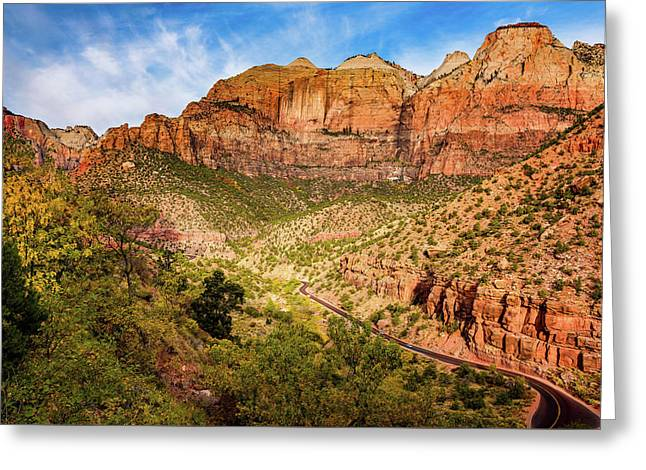 Greeting Card featuring the photograph Driving Into Zion by John Hight