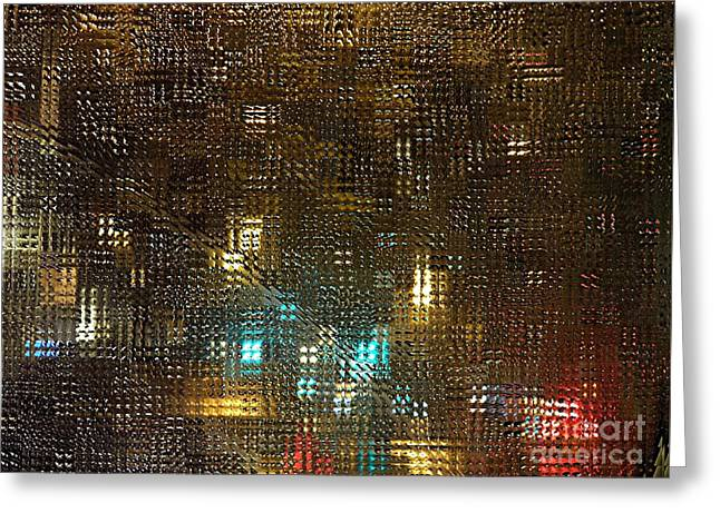 Driving Rain Greeting Card by Sarah Loft