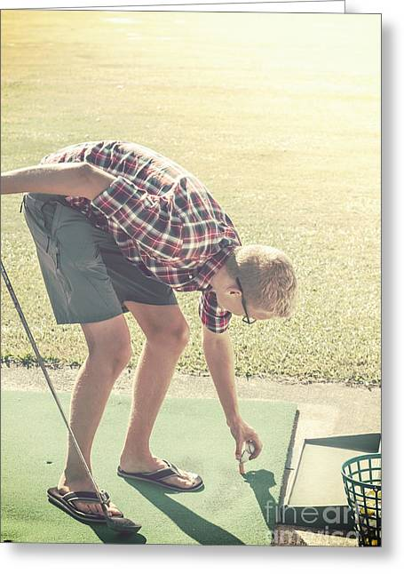 Driving Range Golf Greeting Card by Jorgo Photography - Wall Art Gallery