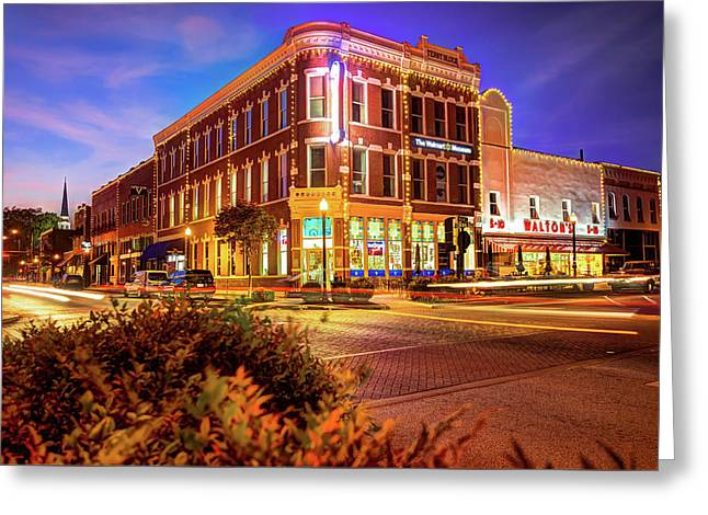 Driving Through Downtown - Bentonville Arkansas Town Square Greeting Card