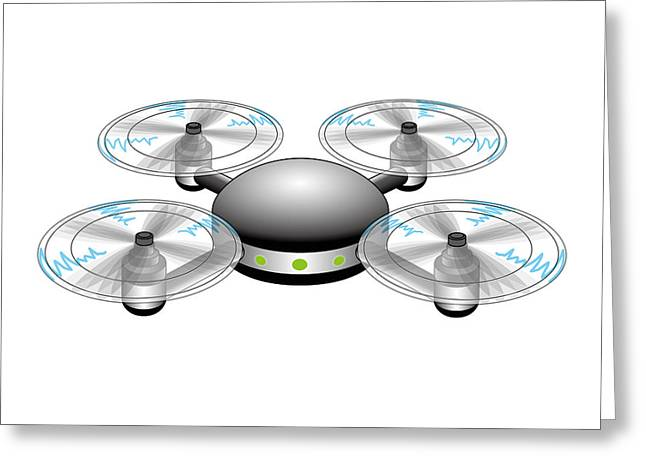 Drone Greeting Card