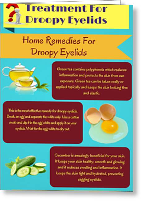 Droopy Eyelids - Causes And Treatment Greeting Card