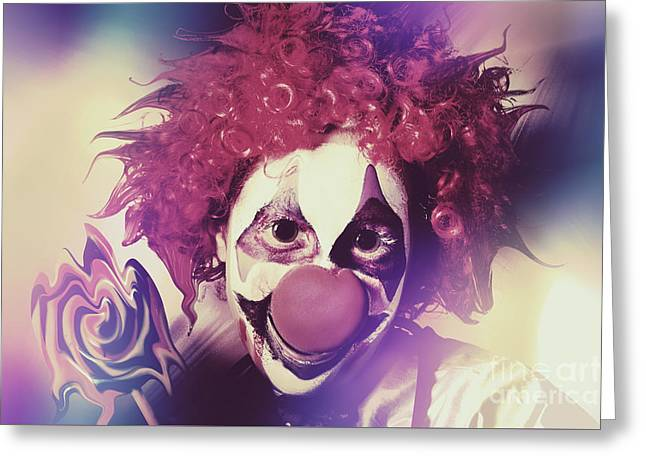 Droopy The Clown With Mind Bending Magic Greeting Card