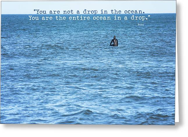 Drop In The Ocean Surfer  Greeting Card by Terry DeLuco