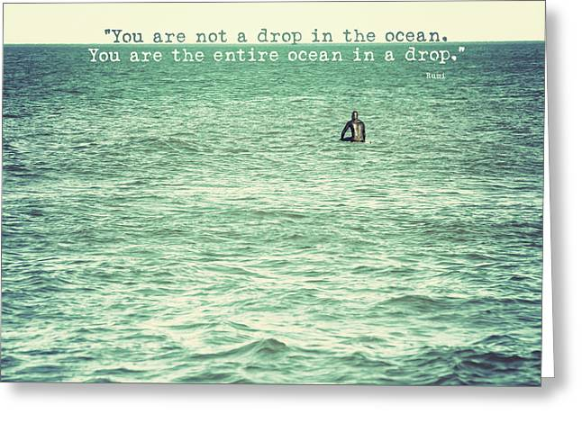 Drop In The Ocean Surfer Vintage Greeting Card by Terry DeLuco