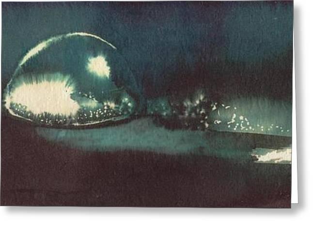 Greeting Card featuring the painting Drop Of Water by Annemeet Hasidi- van der Leij