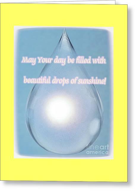Drops Of Sunshine Greeting Card