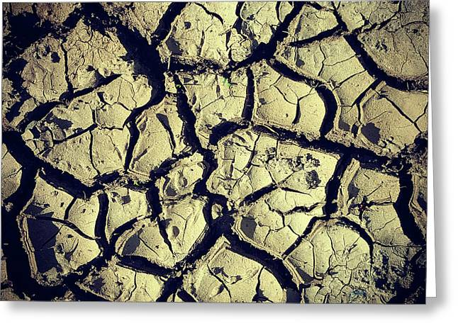 Drought Soil Greeting Card