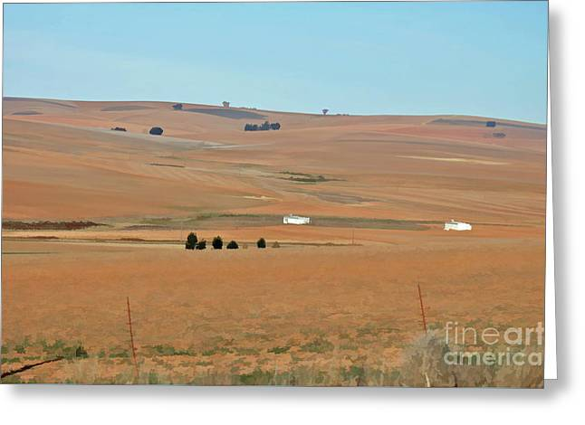 Drought-stricken South African Farmlands - 1 Of 3  Greeting Card