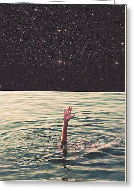 Drowned In Space Greeting Card by Fran Rodriguez
