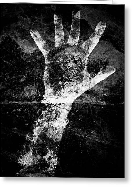 Problem Greeting Cards - Drowning Greeting Card by Venura Herath