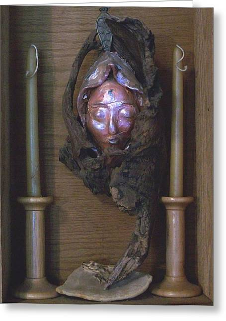 Druantia  1 Greeting Card by Carolyn Cable