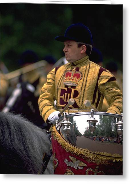 Drum Horse At Trooping The Colour Greeting Card