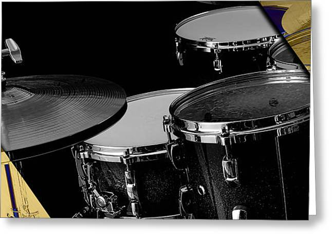 Drum Set Collection Greeting Card