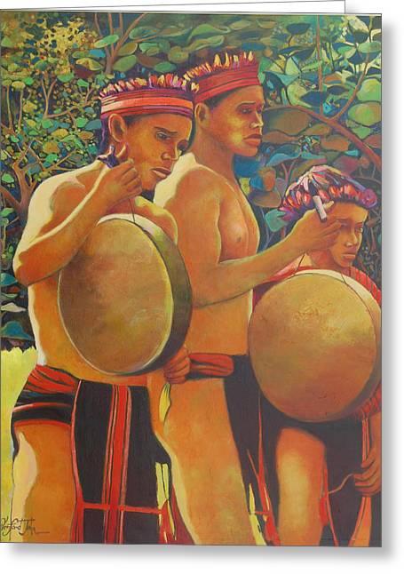 Drumbeat Of The Kalinago Greeting Card