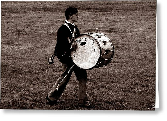 Drummers Photographs Greeting Cards - Drummer Boy Greeting Card by David Lee Thompson