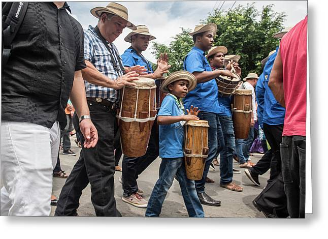 Drummer Boy In Parade Greeting Card