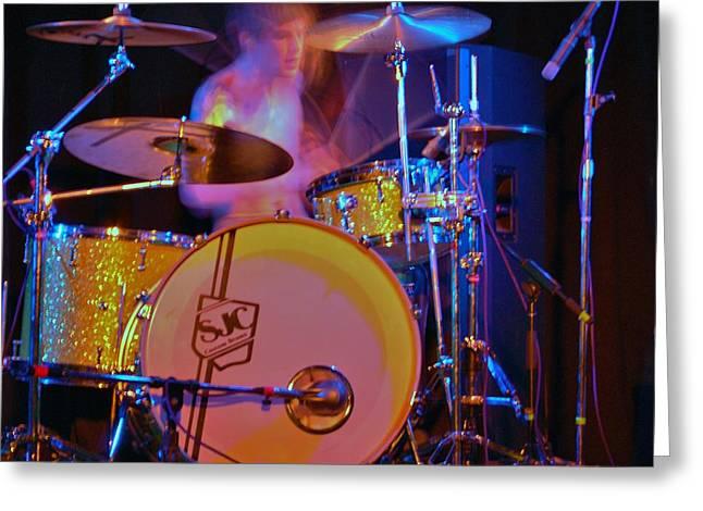 Drummer Boy Greeting Card by Joy Bradley