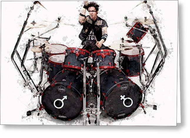 Drummer Controlled Chaos Greeting Card