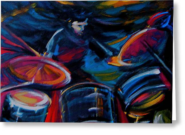 Drummer Craze Greeting Card