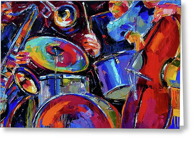 Drums And Friends Greeting Card