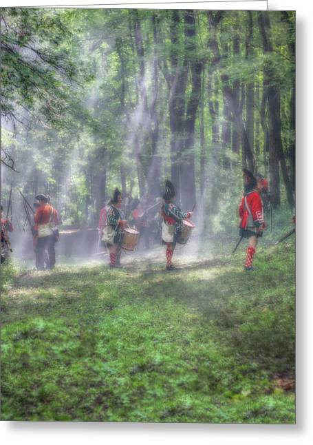 Drums In The Forest Before The Battle Greeting Card by Randy Steele