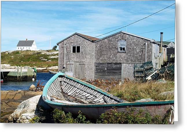 Dry Dock At Peggy's Cove Greeting Card by Richard Mansfield