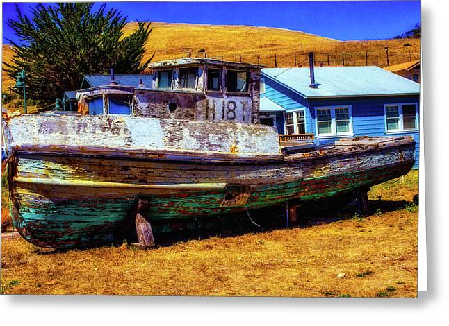 Dry Dock Black Pearl Greeting Card
