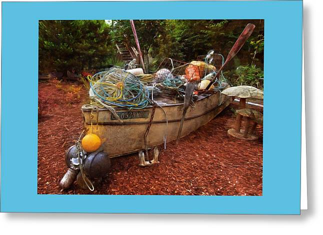 Greeting Card featuring the photograph Dry Dock Art by Thom Zehrfeld