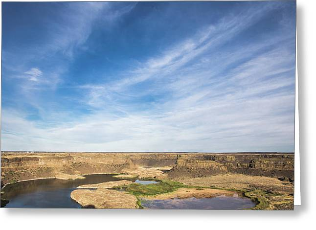 Greeting Card featuring the photograph Dry Fall, Washington by Jingjits Photography