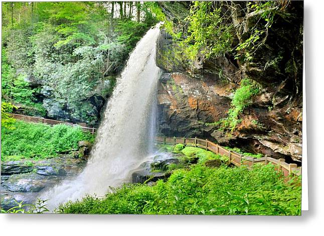 Greeting Card featuring the photograph Dry Falls Highlands North Carolina 2 by Lisa Wooten