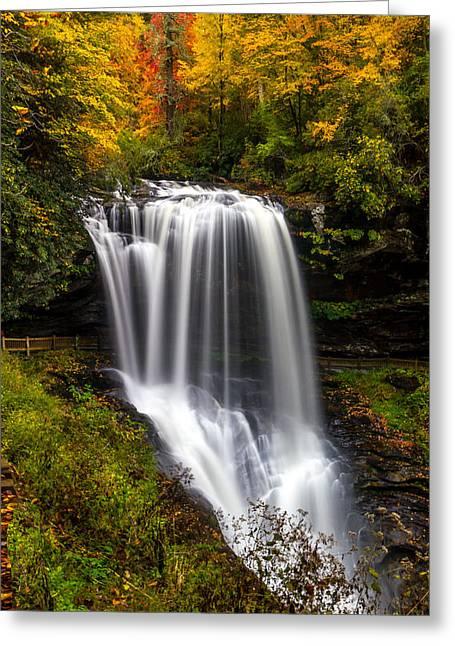 Dry Falls In October  Greeting Card