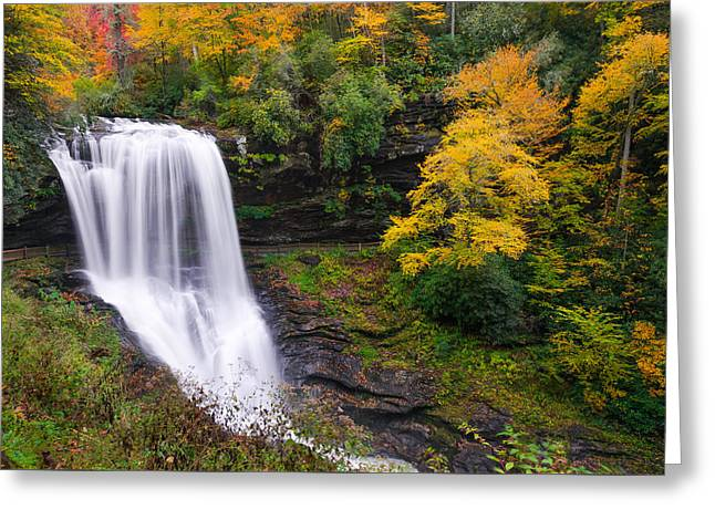Dry Falls Highlands North Carolina Greeting Card