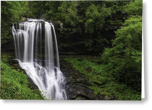 Southern Appalachians Greeting Cards - Dry Falls Vista Greeting Card by Johan Hakansson