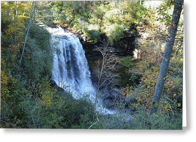 Dry Falls Waterfall North Carolina Greeting Card by rd Erickson
