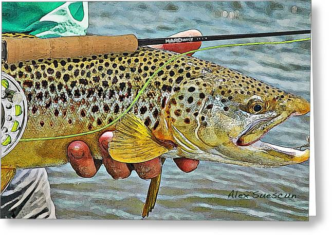 Dry Fly Brown Greeting Card