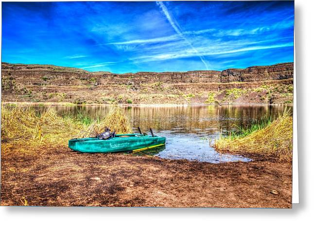 Dry Lake Recreation Greeting Card by Spencer McDonald