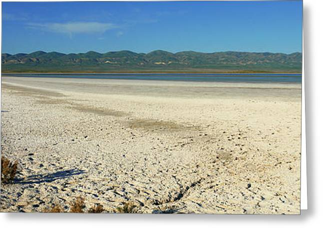 Dry Lakebed, Soda Lake, California Greeting Card by Panoramic Images