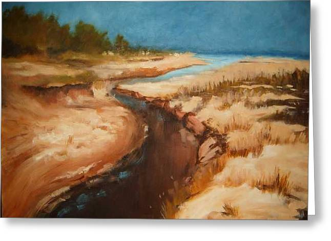 Dry River Bed Greeting Card by Nellie Visser