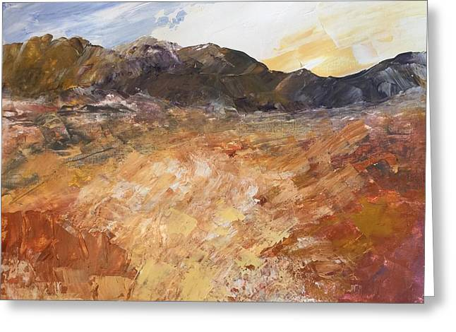 Greeting Card featuring the painting Dry River by Norma Duch