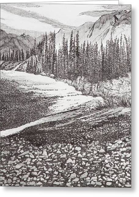 Dry Riverbed Greeting Card