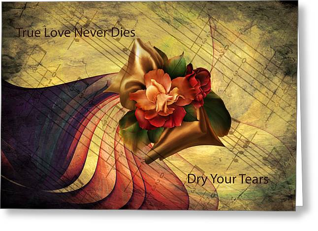 Dry Your Tears Vintage Romance Greeting Card by Georgiana Romanovna