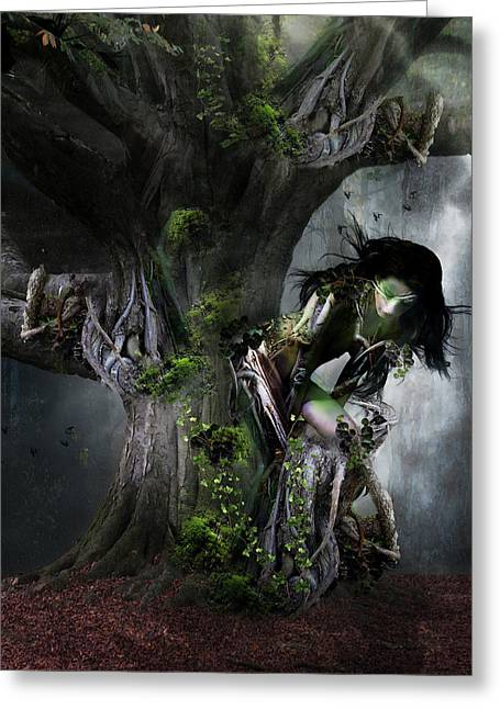 Dryad's Dance Greeting Card by Mary Hood